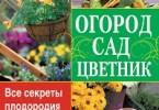 Галина Кизима «Огород, сад, цветник. Все секреты плодородия в одной книге»