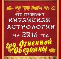 В. Южин «Что пророчит китайская астрология на 2016 год. Год Огненной Обезьяны»