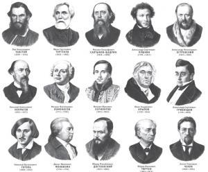 Писатели 19 века