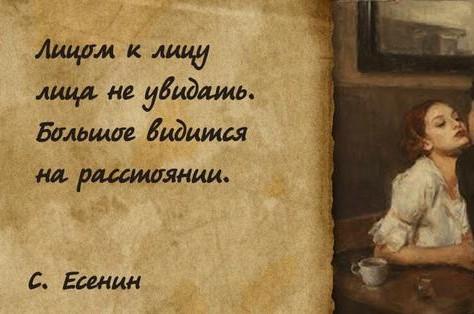 Афоризмы Есенина в картинках