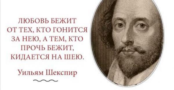 Афоризмы Уильяма Шекспира в картинках