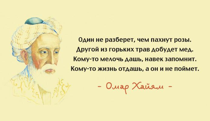 Цитаты Омара Хайяма в картинках