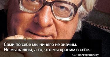 Цитаты Рея Брэдбери в картинках